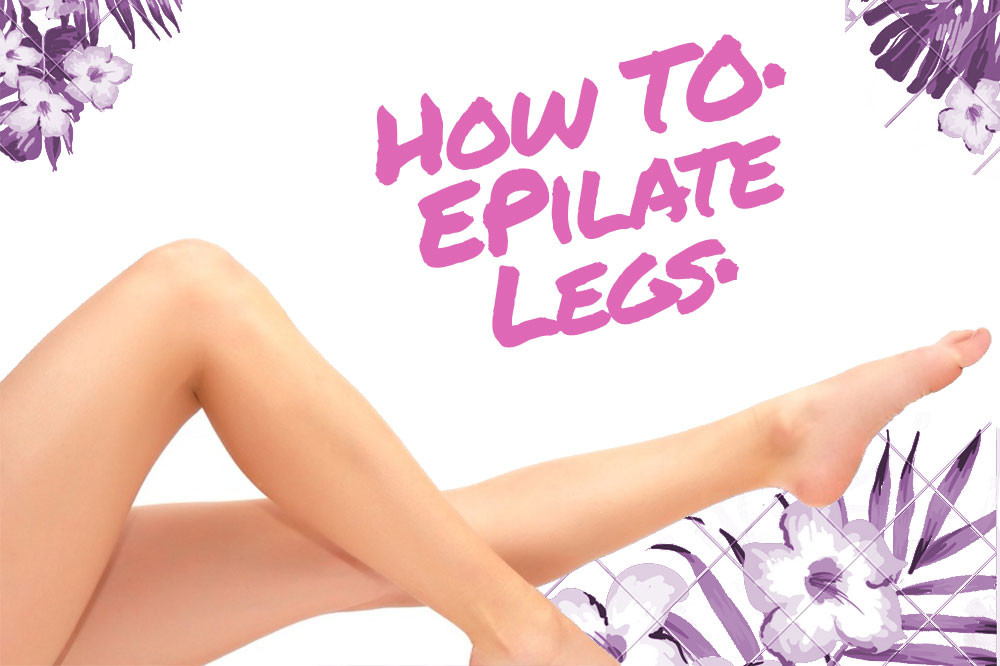 visual guide epilating legs